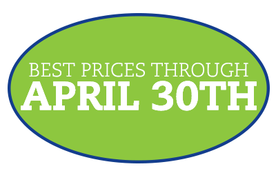 Best Prices through April 30th