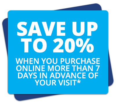 Save Up To 20% - When You Purchase Online More Than 7 Days In Advance Of Your Visit