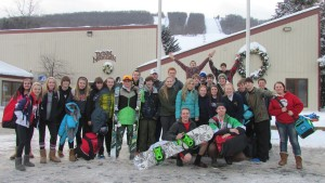 Group visiting Bristol Mountain