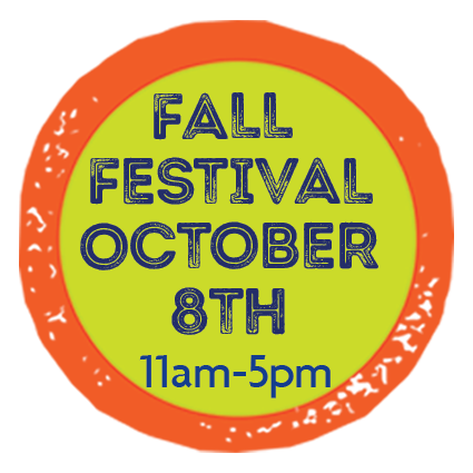 Fall Festival - October 8th - 11am-5pm