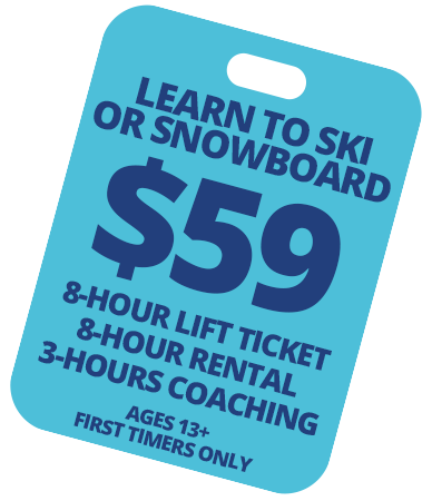 Learn To Ski or Snowboard $59