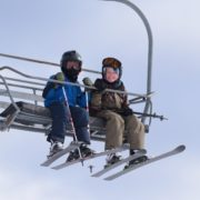 Skiers@ Bristol Mountain