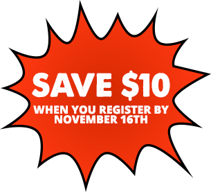 Save $10 when you register by November 16th