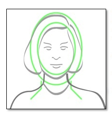 Image showing a person with their face centered.
